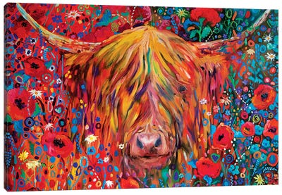 Poppy Cow Canvas Art Print