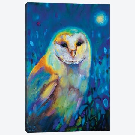 Moonlight Owl Canvas Print #SGN51} by Sue Gardner Art Print