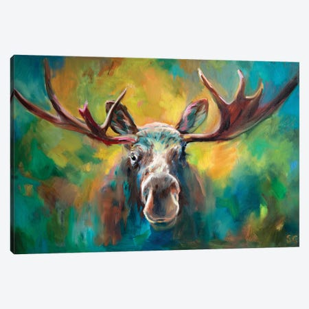 Majestic Moose Canvas Print #SGN57} by Sue Gardner Canvas Art