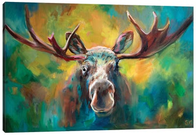 Majestic Moose Canvas Art Print