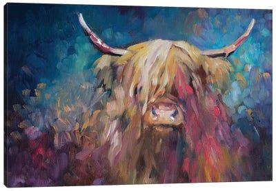Dawn Highland Cow Canvas Art Print