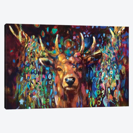 Party Stag Canvas Print #SGN8} by Sue Gardner Canvas Print