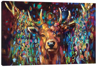 Party Stag Canvas Art Print