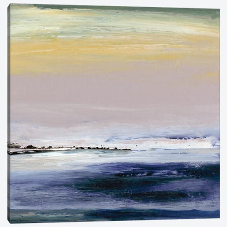 Amethyst Horizon 3-Piece Canvas #SGO1} by Sharon Gordon Canvas Art