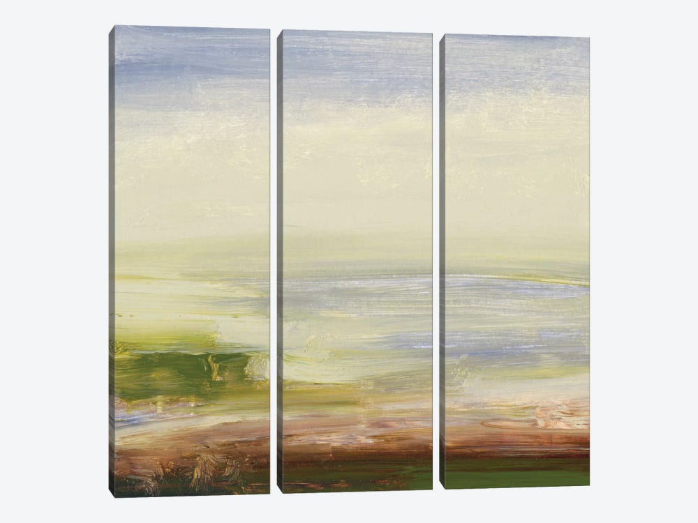 Pastel Sea by Sharon Gordon 3-piece Canvas Print