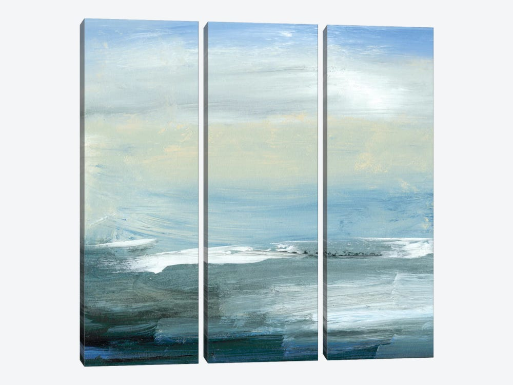 Chromatic Sea by Sharon Gordon 3-piece Canvas Print
