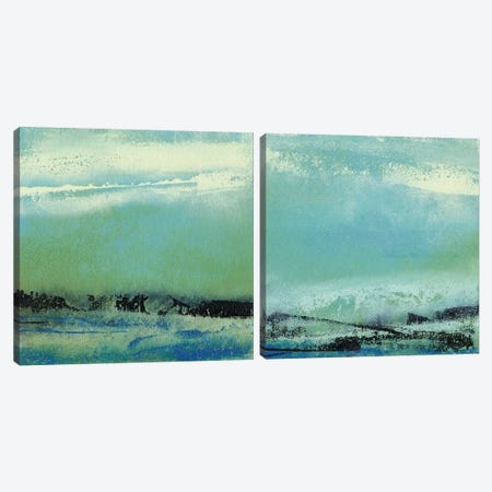 Origin Abstract Diptych Canvas Print Set #SGO2HSET001} by Sharon Gordon Canvas Print