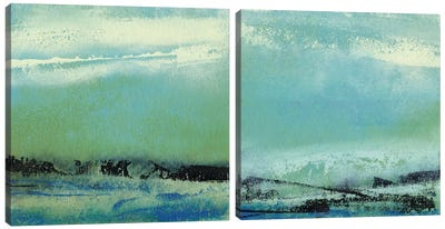 Origin Abstract Diptych Canvas Art Print