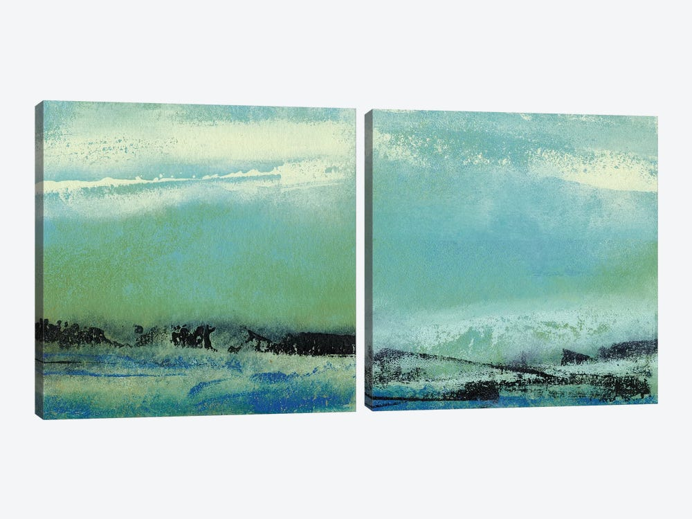 Origin Abstract Diptych by Sharon Gordon 2-piece Canvas Wall Art