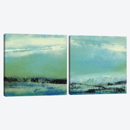 Origin Abstract Diptych Canvas Print Set #SGO2HSET001} by Sharon Gordon Canvas Print