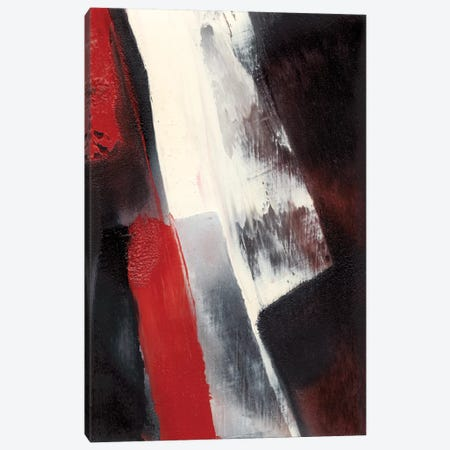 Red Streak I Canvas Print #SGO30} by Sharon Gordon Canvas Art