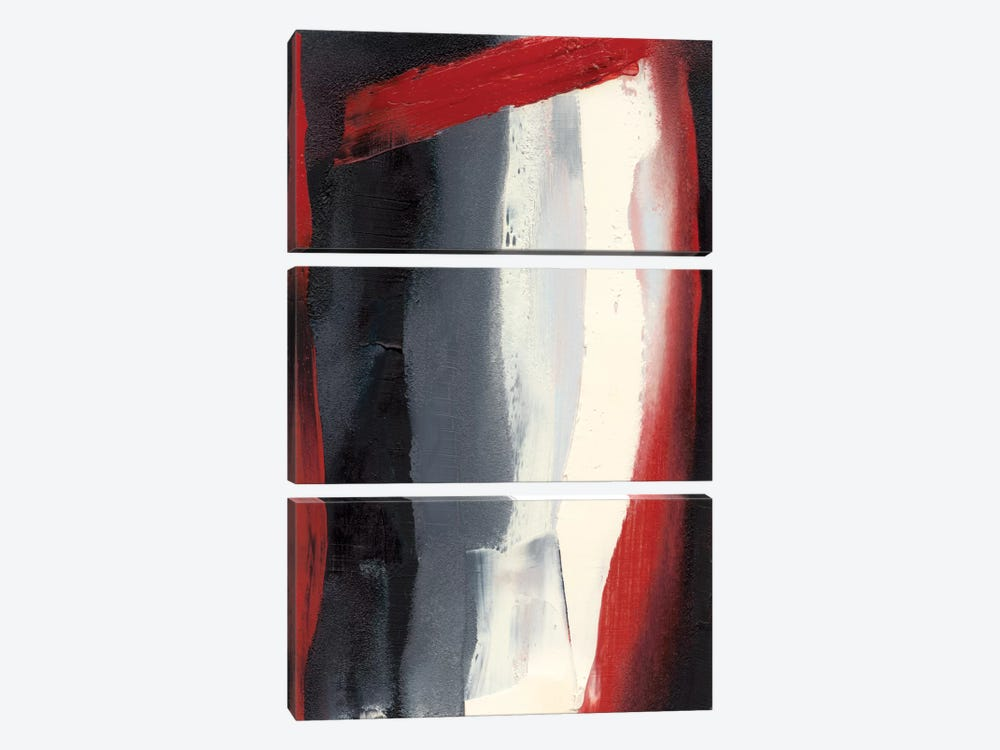 Red Streak II by Sharon Gordon 3-piece Canvas Wall Art