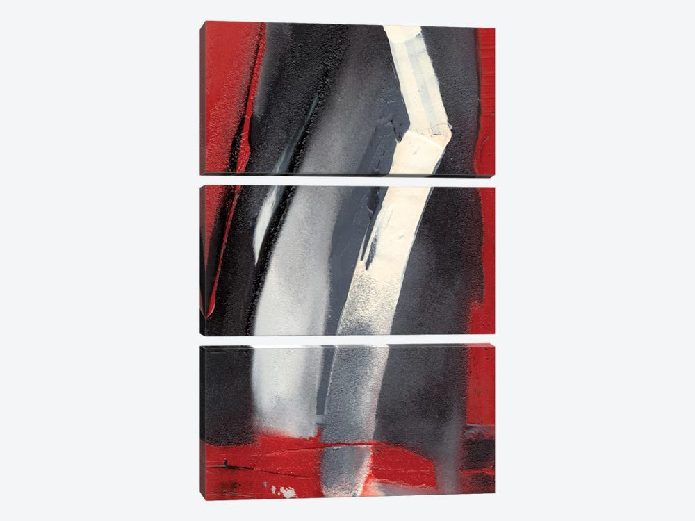 Red Streak III 3-piece Canvas Art Print