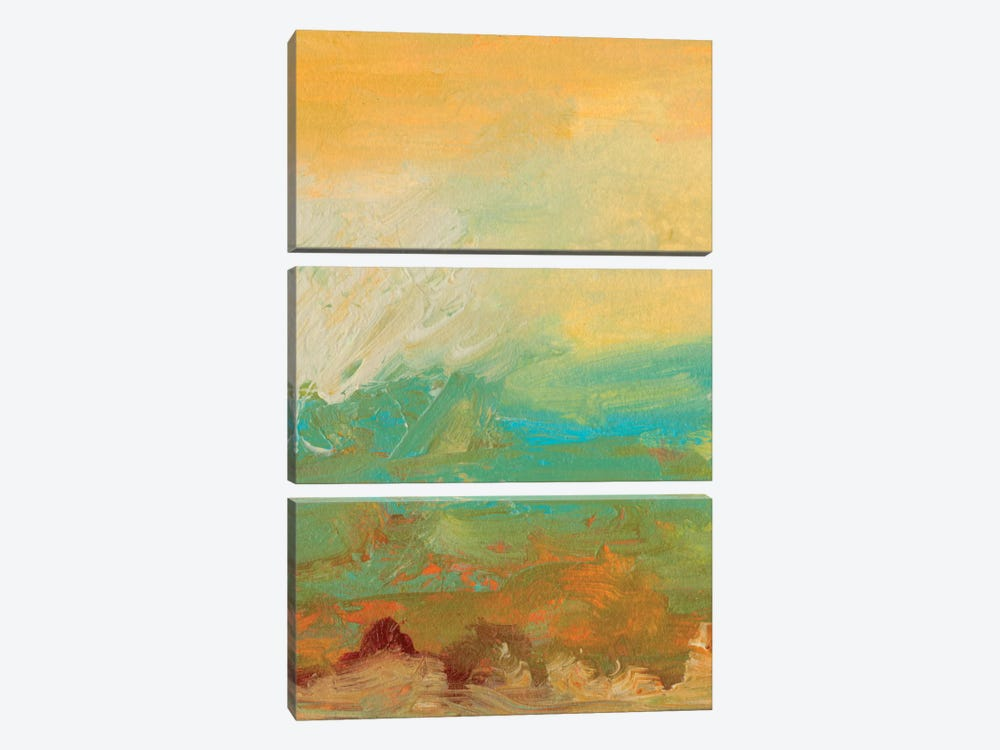 Tropical View I by Sharon Gordon 3-piece Canvas Wall Art