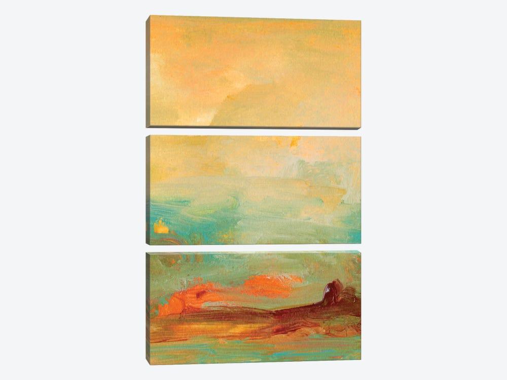 Tropical View II by Sharon Gordon 3-piece Canvas Wall Art