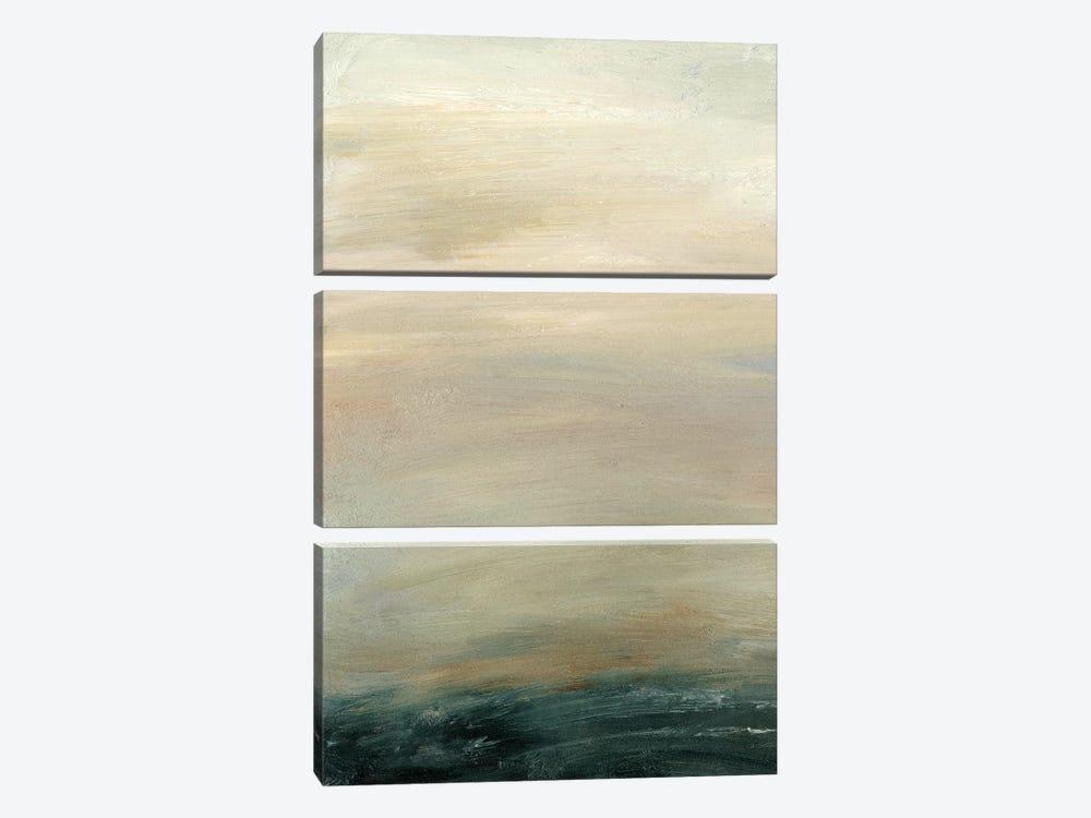 Soft Horizon  I by Sharon Gordon 3-piece Canvas Art Print