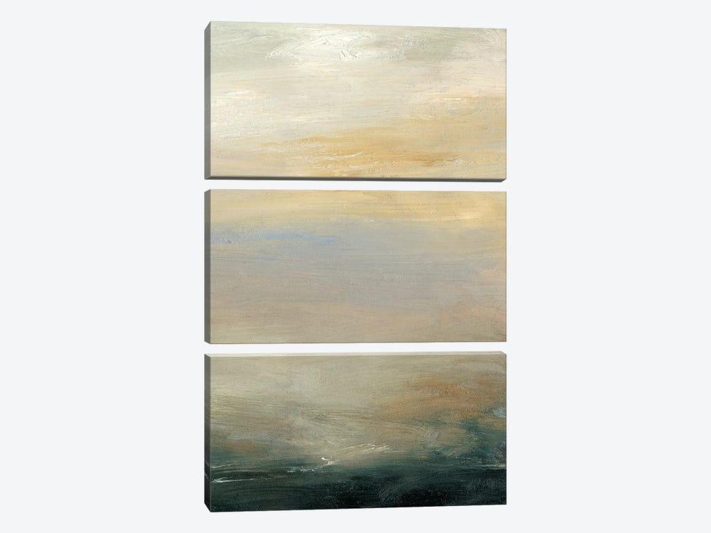 Soft Horizon  II by Sharon Gordon 3-piece Canvas Artwork