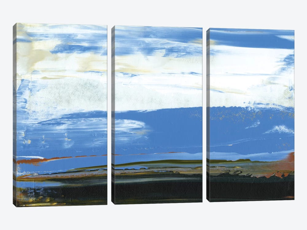 Deconstructed View In Blue I by Sharon Gordon 3-piece Art Print