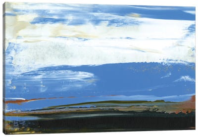 Deconstructed View In Blue I Canvas Art Print