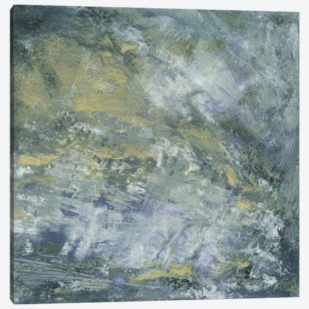 Encaustic Tile In Blue I Canvas Print #SGO95} by Sharon Gordon Canvas Art Print