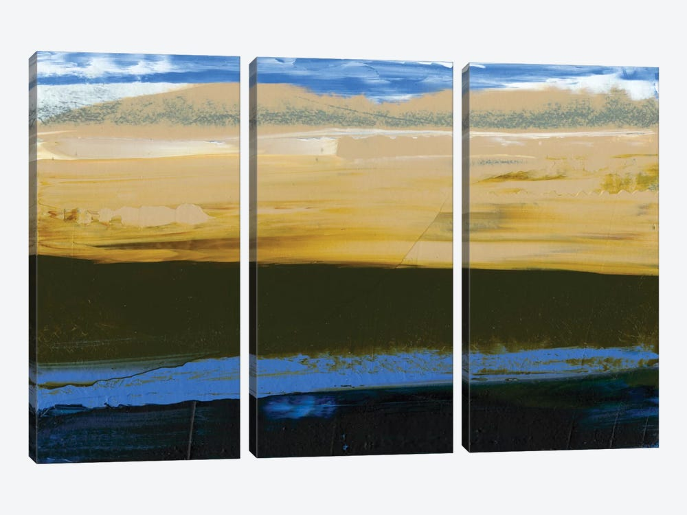 Deconstructed View In Blue II by Sharon Gordon 3-piece Canvas Art