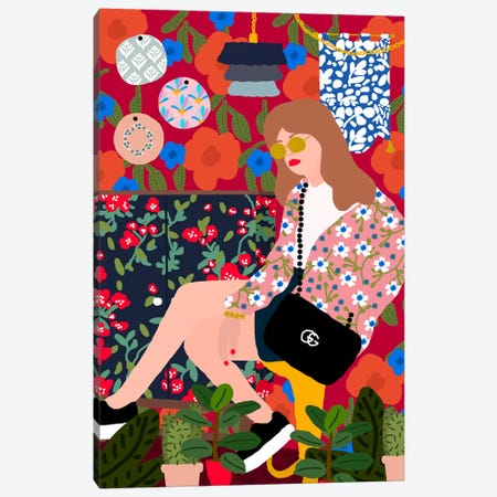 Waiting In My Living Room Canvas Print #SGP34} by Studio Grand-Père Canvas Art