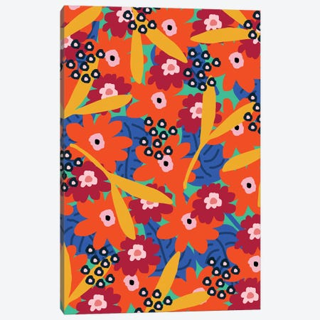Cool Floral Canvas Print #SGP5} by Studio Grand-Père Canvas Art Print