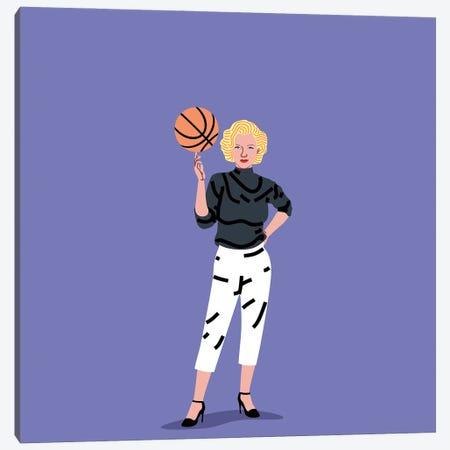 Balling Marilyn Canvas Print #SGR10} by Elad Shagrir Canvas Print