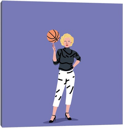 Balling Marilyn Canvas Art Print
