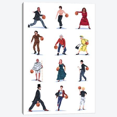 Everybody Plays Baketball Canvas Print #SGR16} by Elad Shagrir Canvas Art
