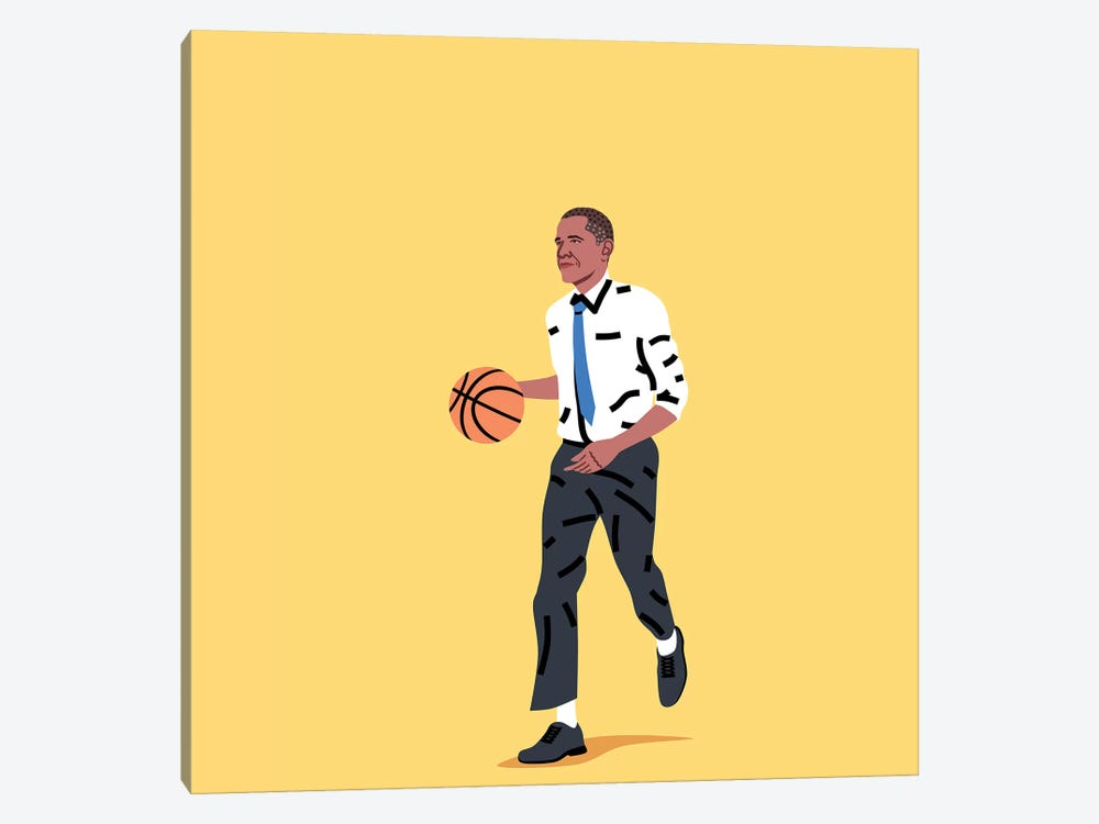 Balling Barack by Elad Shagrir 1-piece Canvas Print