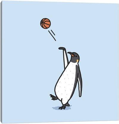 Balling Penguin Canvas Art Print
