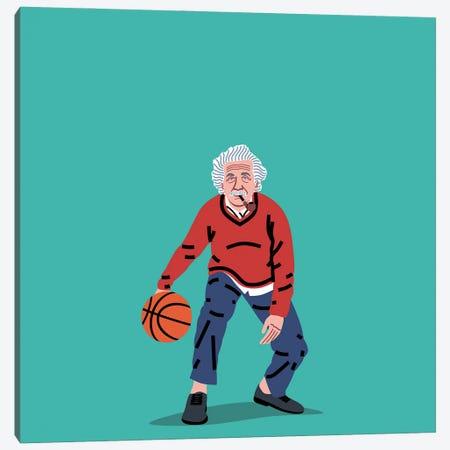 Balling Einstein Canvas Print #SGR5} by Elad Shagrir Art Print