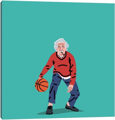 Balling Einstein Canvas Art Print