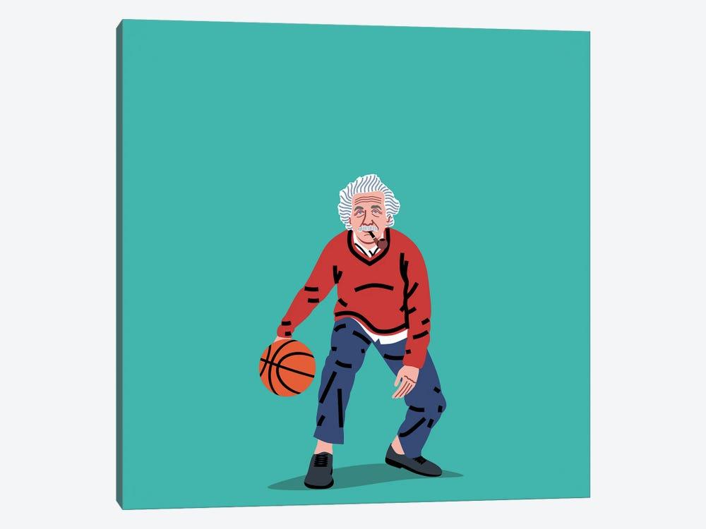 Balling Einstein by Elad Shagrir 1-piece Canvas Print