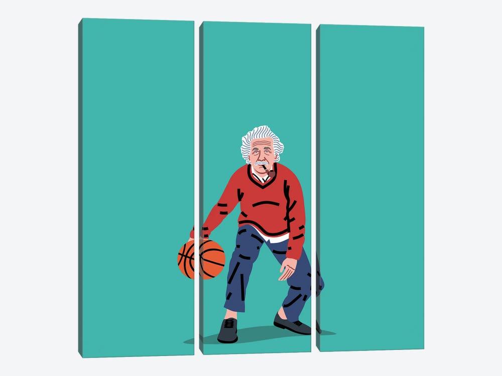 Balling Einstein by Elad Shagrir 3-piece Canvas Art Print