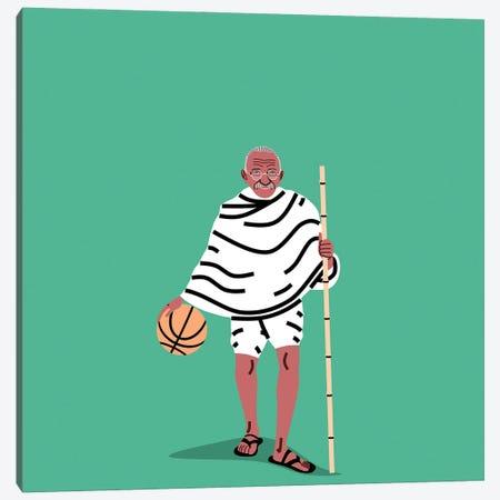 Balling Gandhi Canvas Print #SGR7} by Elad Shagrir Art Print