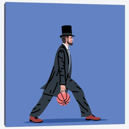 Balling Lincoln Canvas Print #SGR8} by Elad Shagrir Canvas Artwork