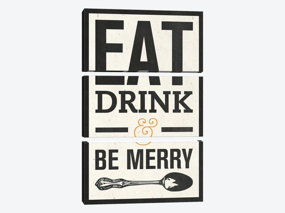 Eat Drink by Sd Graphics Studio 3-piece Canvas Art