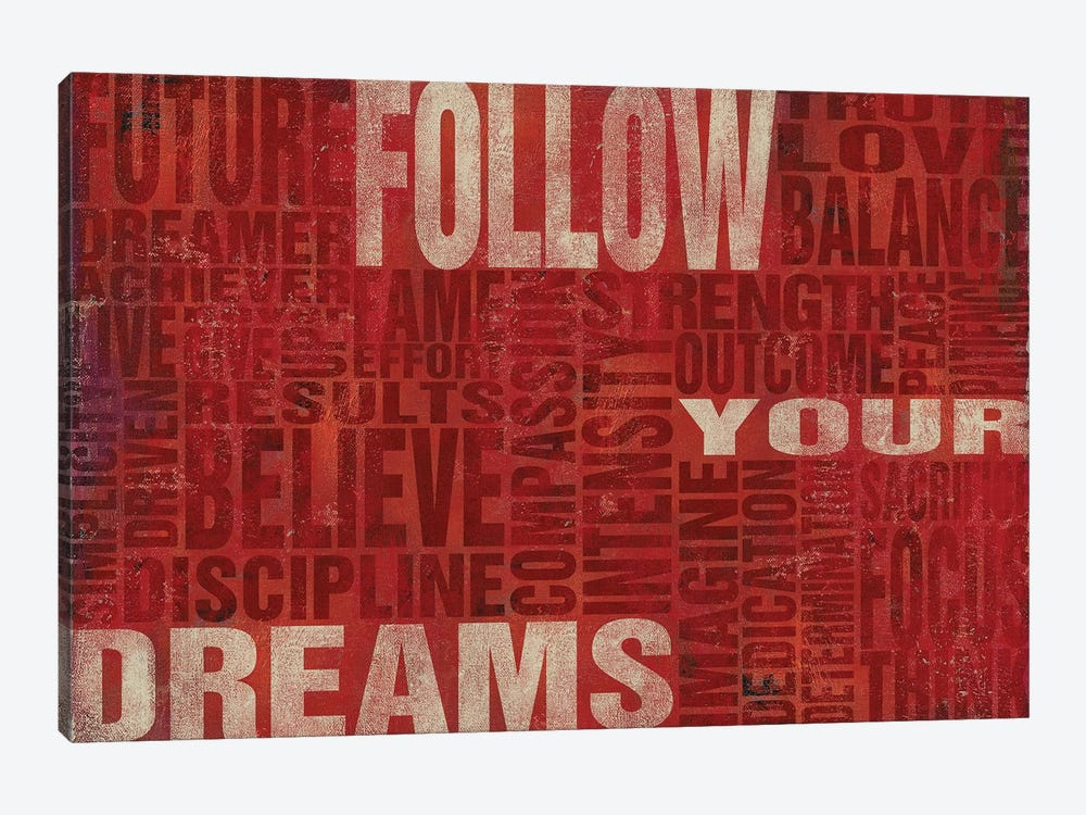 Follow Your Dreams by Sd Graphics Studio 1-piece Canvas Print