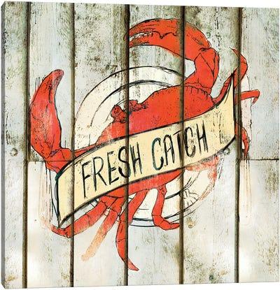 Fresh Catch Square Canvas Art Print