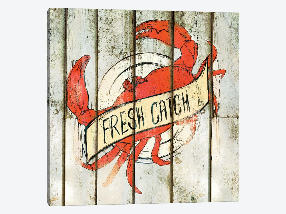 Fresh Catch Square by Sd Graphics Studio 1-piece Canvas Artwork
