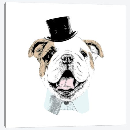 Top Hat Dog Canvas Print #SGS10} by Sd Graphics Studio Canvas Artwork