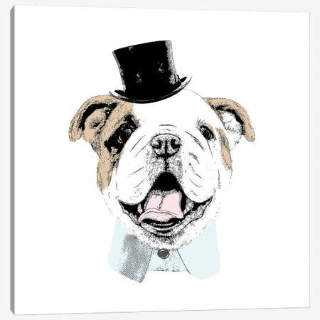 Top Hat Dog 3-Piece Canvas #SGS10} by Sd Graphics Studio Canvas Artwork