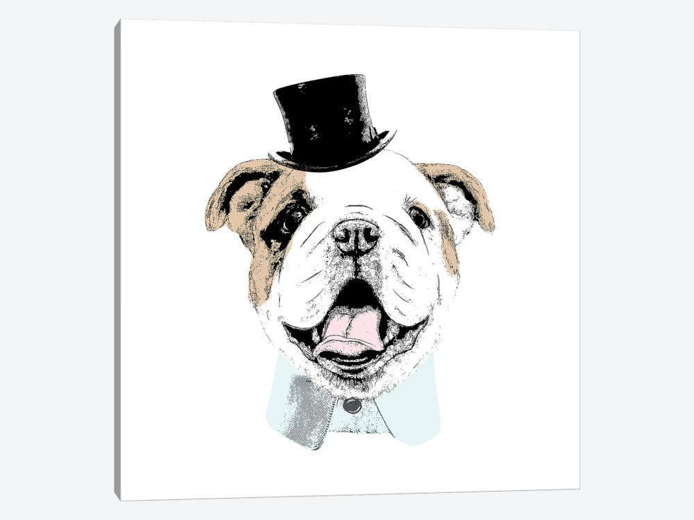 Top Hat Dog by Sd Graphics Studio 1-piece Canvas Wall Art