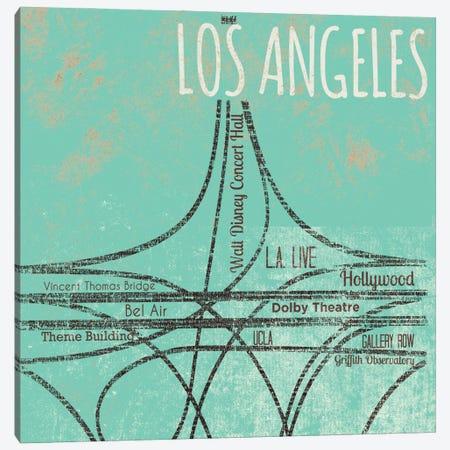 LA Roads Canvas Print #SGS110} by Sd Graphics Studio Art Print