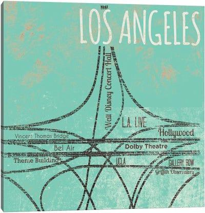 LA Roads Canvas Art Print