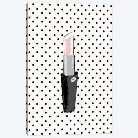 Lipstick on Polka Dots Canvas Print #SGS112} by Sd Graphics Studio Canvas Print