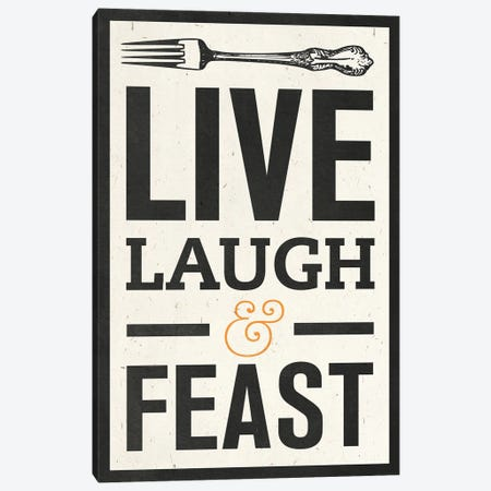 Live Laugh Canvas Print #SGS113} by Sd Graphics Studio Art Print