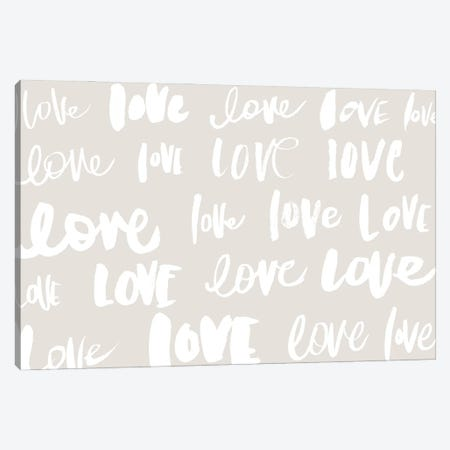 Love, Love, Love Canvas Print #SGS119} by Sd Graphics Studio Canvas Art Print
